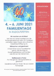 Familientag zum Jubiläum 60 Jahre FG